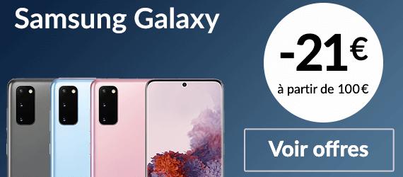 Smartphones Samsung reconditionnées