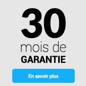 30 mois de garantie
