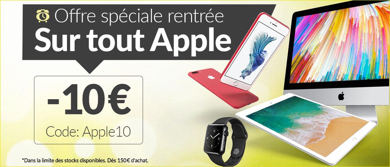 Soldes : 10€ de réduction sur Apple