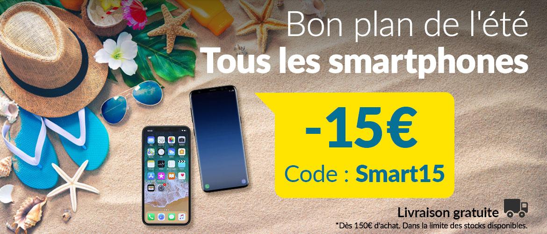 Soldes : 15€ de réduction sur smartphones